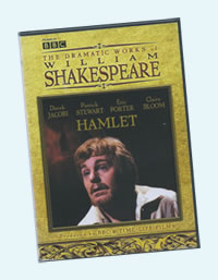 DVD cover with Derek Jacobi as Hamlet
