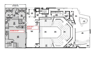 Floor plan of theater